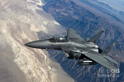 Chief Painting - A U.s. Air Force F-15 Strike Eagle by Celestial Images