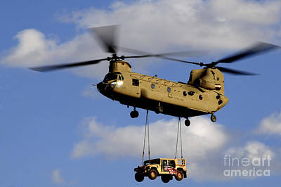 Middle East Photograph - A U.s. Army Ch-47 Chinook Helicopter by Stocktrek Images
