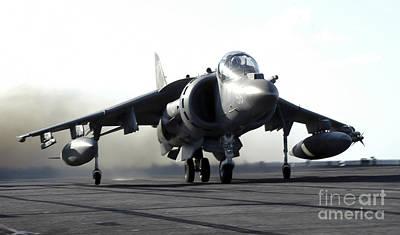 A U.s. Marine Corps Av-8b Harrier Print by Stocktrek Images