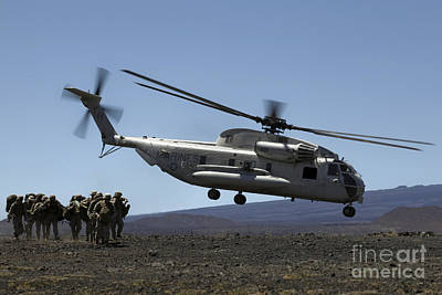 Rotary Wing Aircraft Photograph - A U.s. Marine Corps Ch-53d Seahawk by Stocktrek Images