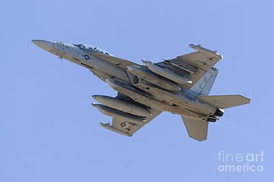 Transportation Royalty-Free and Rights-Managed Images - A U.s. Navy Ea-18g Growler Taking Off by Rob Edgcumbe