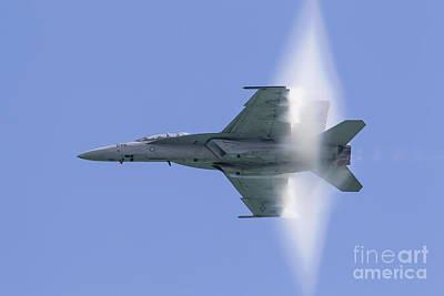 A U.s. Navy Fa-18f Super Hornet Flies Art Print by Rob Edgcumbe