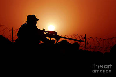 A U.s. Special Forces Soldier Armed Art Print