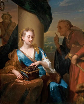 A Useless Moral Lesson Art Print by Godfried Schalcken