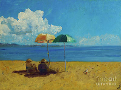 Art Print featuring the painting A Vacant Lot - Byron Bay by Paul McKey