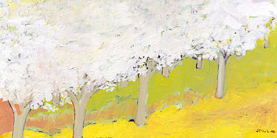 Impressionism Royalty-Free and Rights-Managed Images - A Valley in Bloom by Jennifer Lommers
