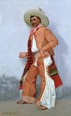 A Vaquero Art Print by Frederic Remington