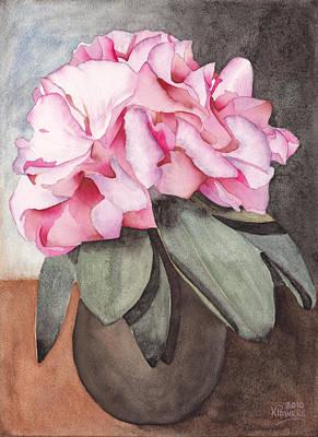 Painting - A Vase Full Of Azaleas by Ken Powers