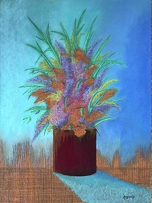 Painting - A Vase Of Flowers by Harvey Rogosin