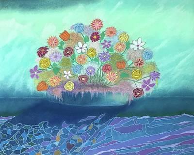 Pastel - A Vase Of Flowers IIi by Harvey Rogosin