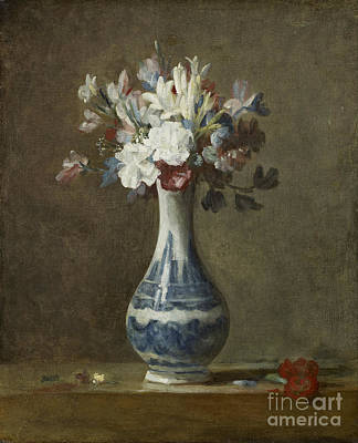 Simeon Painting - A Vase Of Flowers by Celestial Images