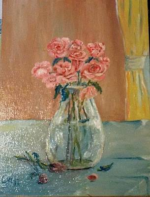 Painting - A Vase Of Roses by Charles Ray