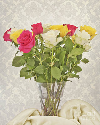 Photograph - A Vase Of Roses by Terri Waters
