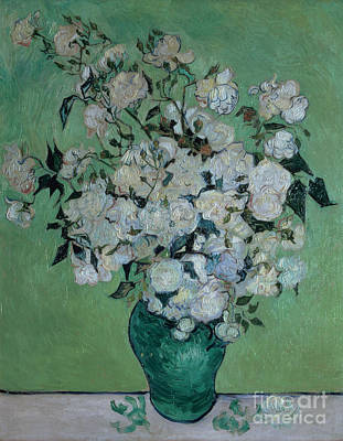 Displays Painting - A Vase Of Roses by Vincent van Gogh