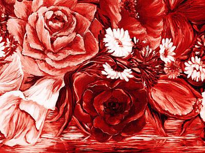 Designers Choice Digital Art - A Velvet Rose by Katreen Queen