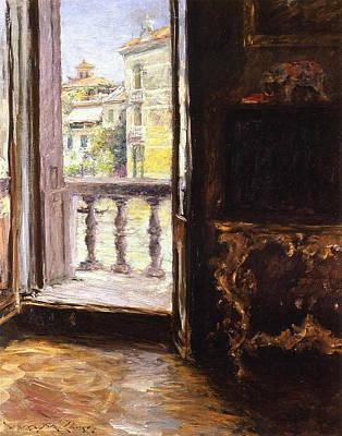 A Venetian Balcony Art Print