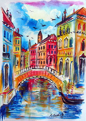 Painting - A Venetian Bridge  by Roberto Gagliardi