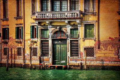 Old Door Photograph - A Venetian Door  by Carol Japp