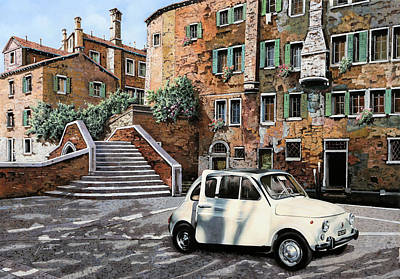Chrysler Painting - a Venezia in 500 by Guido Borelli