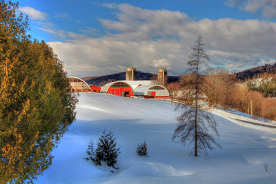 Photograph - A Vermont Farm In Winter by Joann Vitali