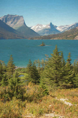 Photograph - A Vertical Art Photograph Of Wild Goose Island Glacier Nat. Park by Rusty R Smith