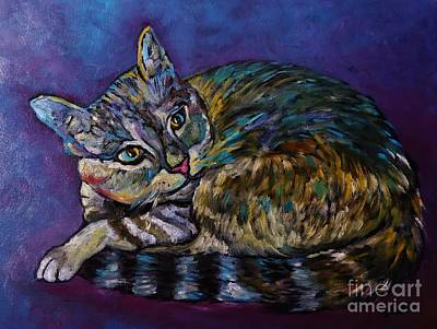 Painting - A Very Colorful Cat by Reb Frost