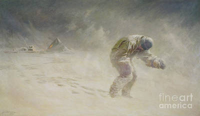 Intrepid Painting - A Very Gallant Gentleman by John Charles Dollman