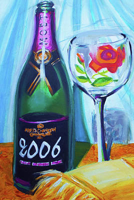 Martini Paintings - A Very Good Year by Susi Franco