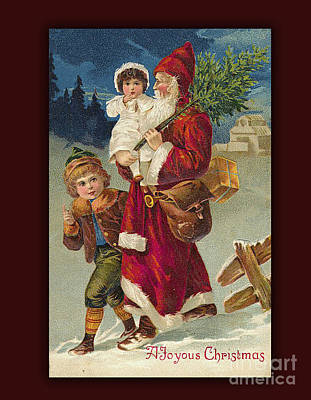 Digital Art - A Very Joyous Vintage Christmas by Melissa Messick