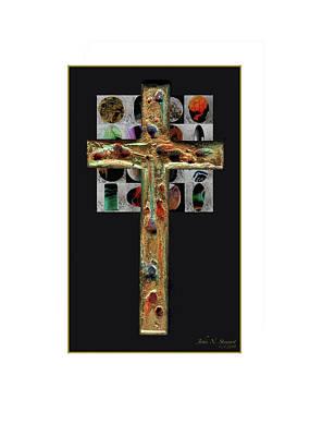Digital Art - A Very Large Cross Poster by John Norman Stewart