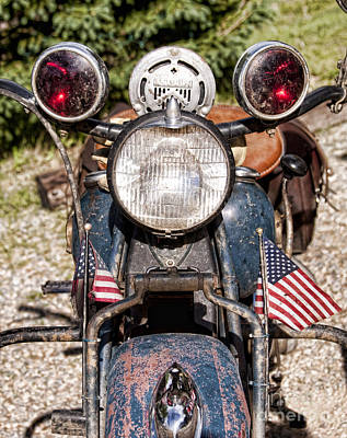 Photograph - A Very Old Indian Harley-davidson by James BO  Insogna