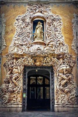 A Very Ornate Doorway In Valencia Spain  Art Print