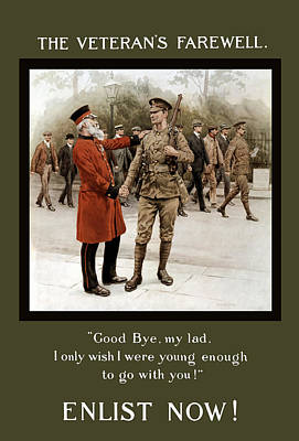 First World War Painting - A Veteran's Farewell - Ww1 by War Is Hell Store