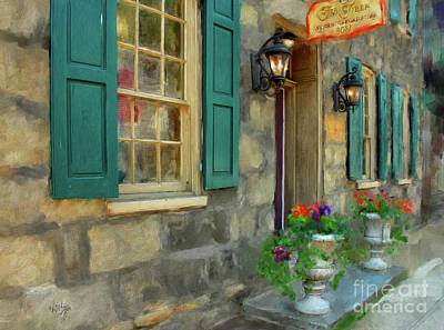 Victorian Town Digital Art - A Victorian Tea Room by Lois Bryan