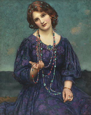 Viennese Painting - A Viennese Memory  by Thomas Edwin Mostyn