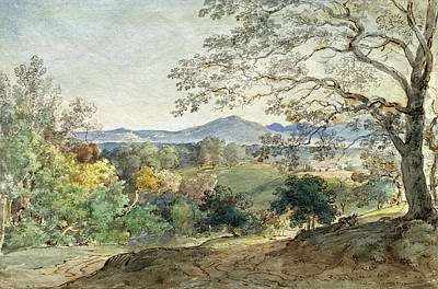Painting -  A View Across The Inn Valley To The Alps And Neubeuern by Johann Georg von Dillis