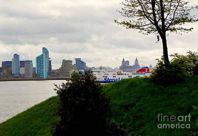 Photograph - A View Across The Mersey by Joan-Violet Stretch