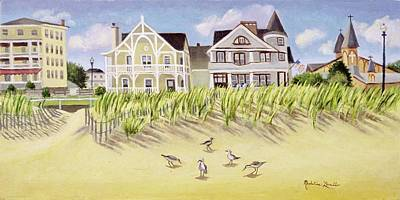 Painting - A View Along Ocean Grove Beach by Madeline Lovallo