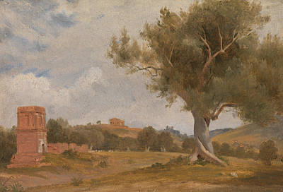 A View At Girgenti In Sicily With The Temple Of Concord And Juno Art Print
