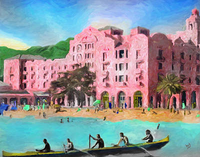 Oahu Mixed Media - A View From Canoes by Patrick J Gallagher