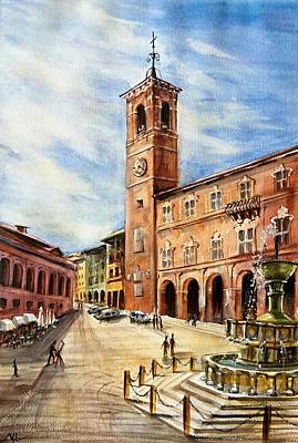 A View From Fabriano Art Print