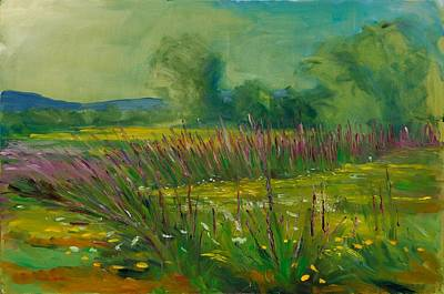 Hudson Valley Painting - A View From Kidd Lane by Robert James Hacunda