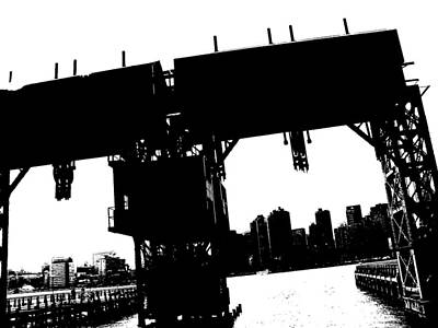 Digital Art - A View From Long Island City 3 by Yelena Tylkina