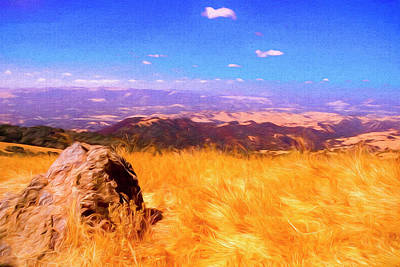 Digital Art - A View From Mt. Diablo State Park. Near Wallnut Creek Ca. by Rusty R Smith