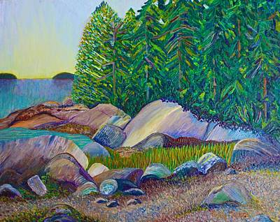 Painting - A View From Starfish Point by Polly Castor