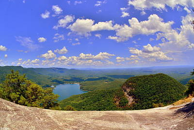 Photograph - A View From Table Rock South Carolina by Lisa Wooten