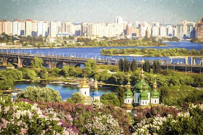 Dnieper Wall Art - Digital Art - A View From The Botanic Gardens by Matt Create