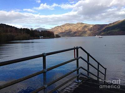 Photograph - A View From The Pier At Loch Lomond by Joan-Violet Stretch