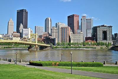 A View From The Pittsburgh Park Art Print by Frozen in Time Fine Art Photography