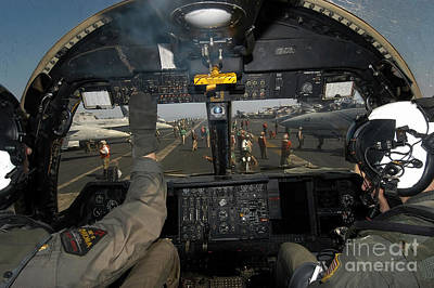Cockpit Photograph - A View From The Tactical Coordinators by Stocktrek Images